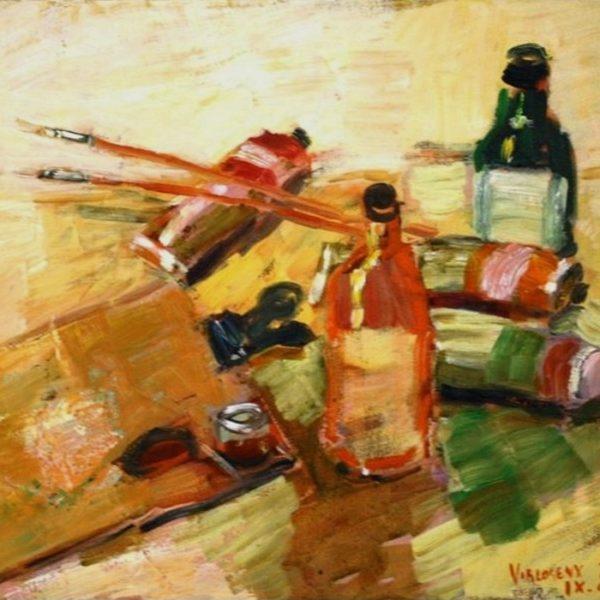 Pensler og farver 38x46