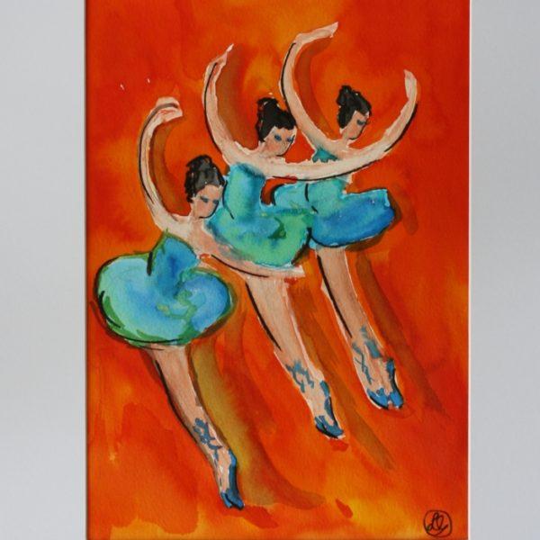 3 dansere B 29x20 kr. 1.600