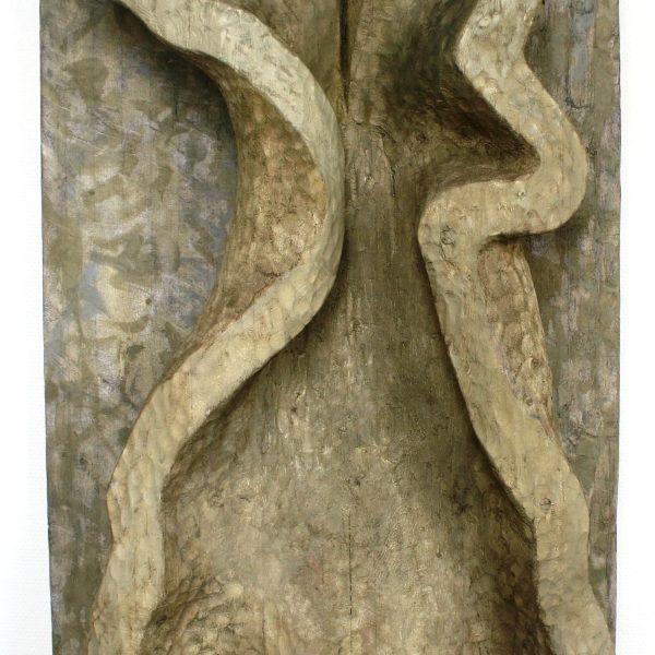 Klædeinspireret relief 110x69 kr. 35.000