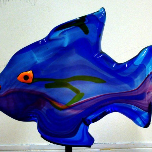 Fisk, Murano glas 64x50 kr. 25.000