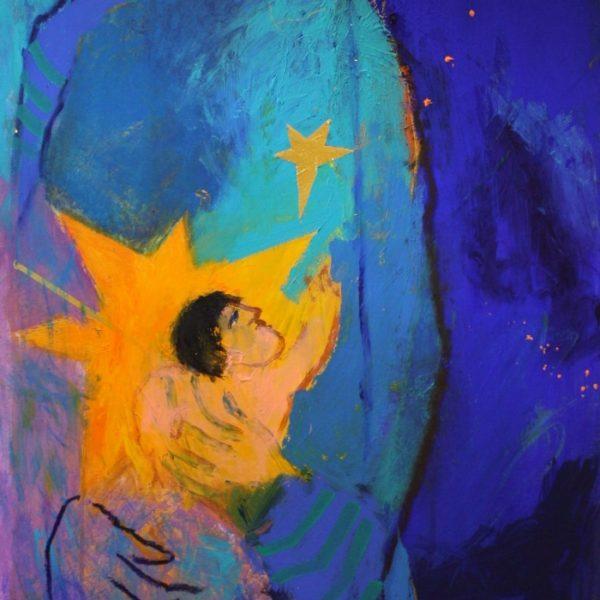 Maria med barnet 124x62 kr. 25.000