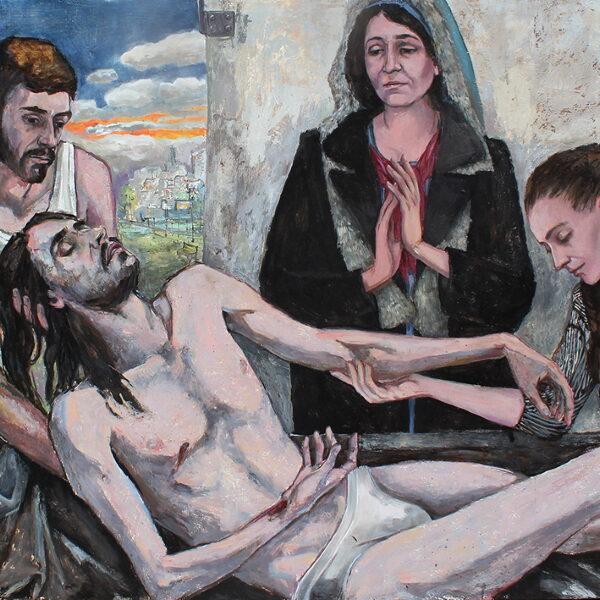 1 Jesus bliver lagt i graven 120x160 kr. 31.500