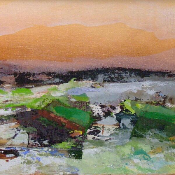 Norrønt landskab II 40x65 kr. 6.000