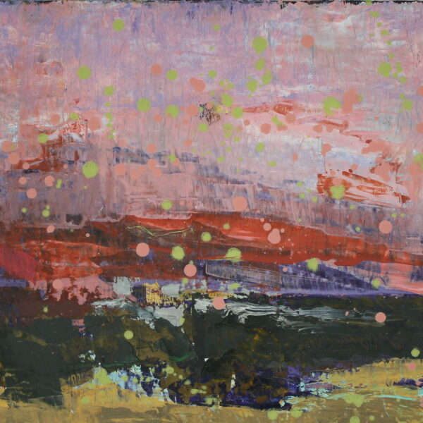 Rødt landskab 40x65 kr. 6.000