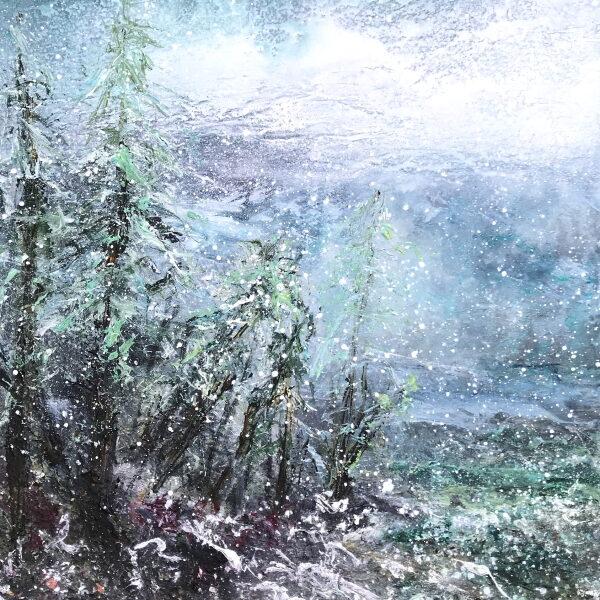 Vinter, sne 70x50 kr. 6.500