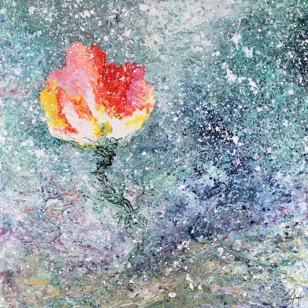 En rose så jeg skyde... 100x100